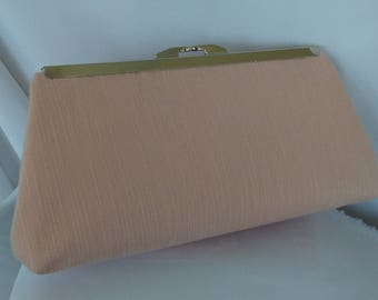 Blush pink summer evening wedding prom clutch purse BBsCustomClutches