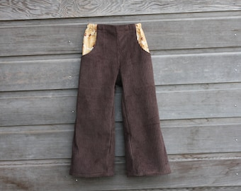 Boys pants with pockets / Corduroy dude pants / Sizes 12 months to 10 years / Made to order