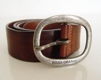 Leather Belt. Hugo Boss Belt.