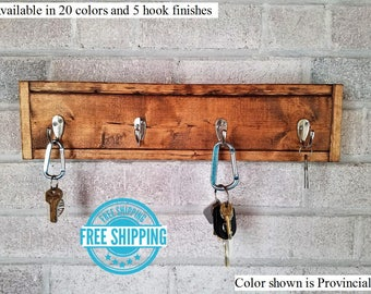 FREE SHIPPING - Herringbone Style Key Rack by Lane of Lenore - Key Holder - Key Sorter - Key Hooks - Key Holder for Wall - Wall Hooks