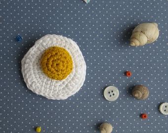 Crocheted Egg Amigurumi Brooch