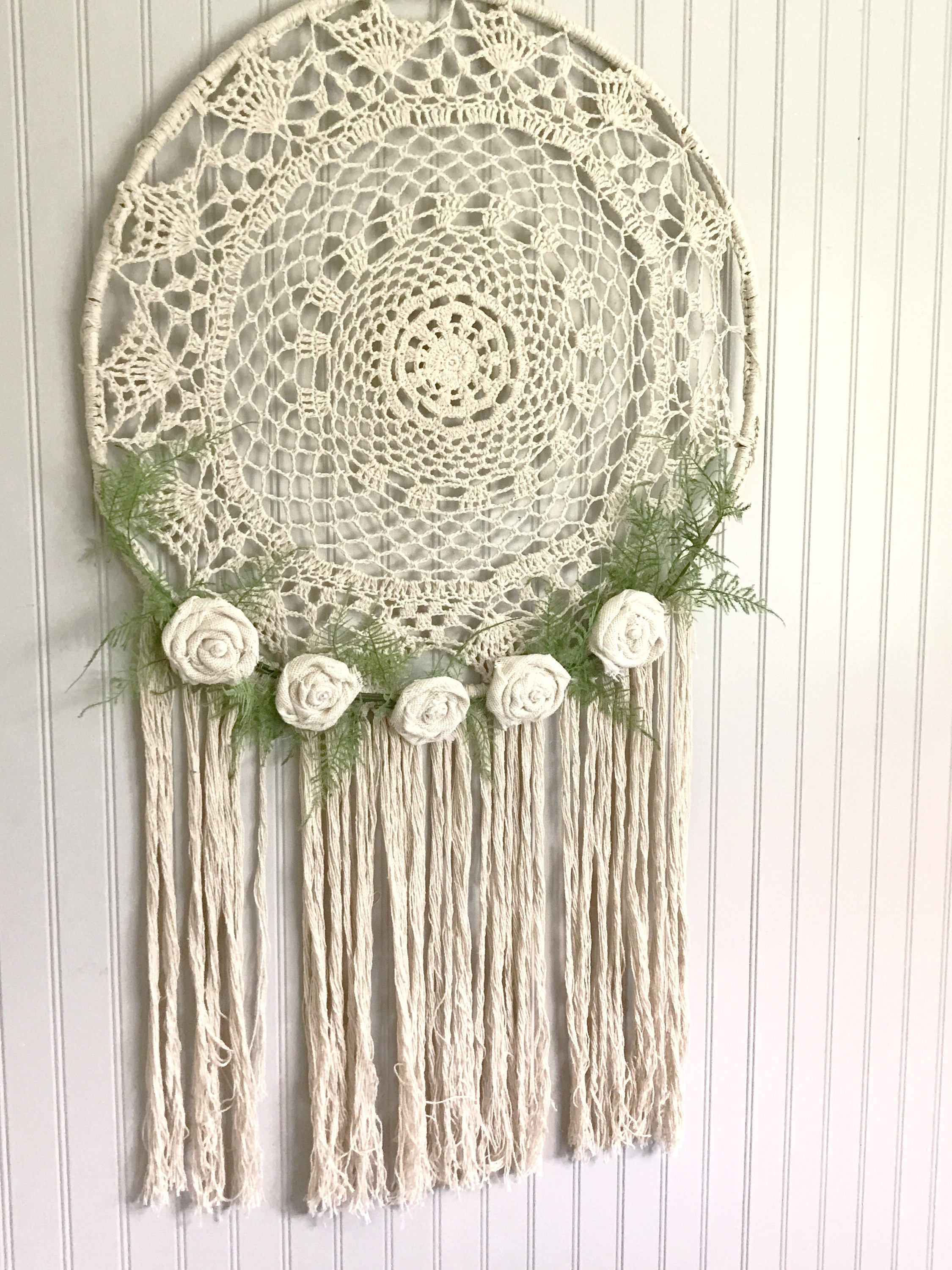 macrame catchers floral macrame dreamcatcher large modern wall hanging nursery 9380