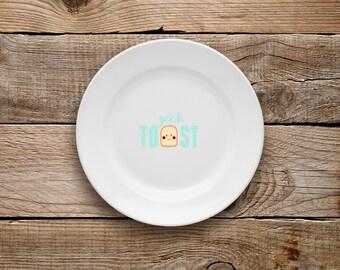 Yeah Toast Plate, Dessert Plate, Breakfast Plate, Breakfast, Toast, Food, Yummy