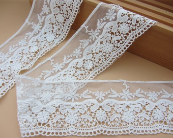 ivory Lace Trim,off  White, 8cm wide, For Scrapbook, Home Decor, Apparel, Accessories, Victorian & Romantic Crafts,sunflower lace ribbon
