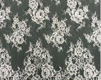 Chantilly Eyelash Lace Trim in high quality, Chantilly Lace Fabric, 59 inches Wide for Veil, Dress, Costume, Craft Making,Designourlife lace