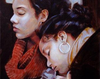 The Girls, an original oil painting
