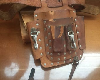 Vintage Leather Tool Belt