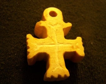 Mini Maltese Cross with Surface Detail and Fluting
