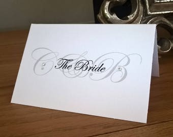 Handmade Personalised Wedding Place Cards & A5 Table Numbers