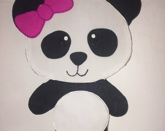 Pinata  girl panda, panda birthday party, panda party supplies