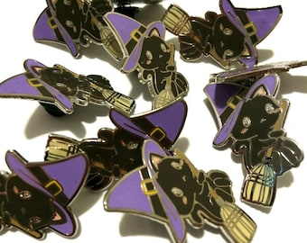 Witch Kitty Enamel Pin