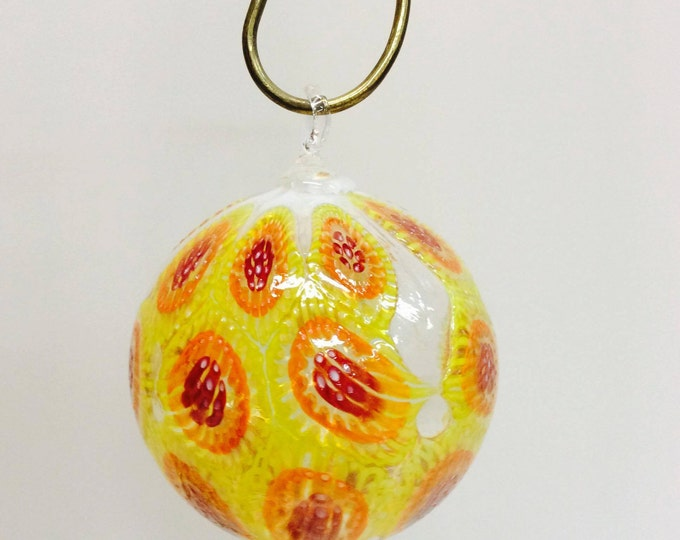 SALE ~ Hand Blown Detailed Murrini Ornament