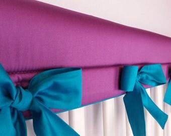 Crib Rail Cover, Bumperless Bedding, Crib Rail guard, bows, bedding, Turquoise, Purple,