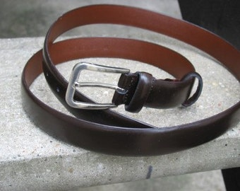 Nice Used Brown Leather Belt 48