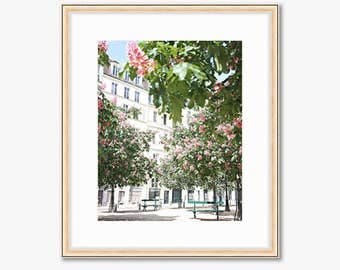 Paris Photograph -- Place Dauphine -- Travel Photography -- 8 X 10 Inch Print