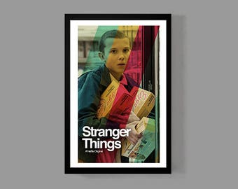 Stranger Things Poster - Eggo Print - TV Movie Netflix Cult Classic Sci Fi Retro 80's