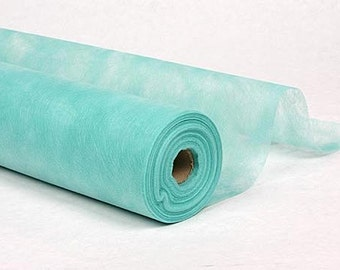 turquoise gossamer fabric roll 19 in by 50 yard for wedding aisle runner decor crafting creating backdrops or decorating wedding ceremony - Gossamer Fabric