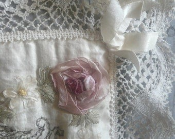 antique silk souvenir de france cushion cover