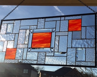 Jeweled Sunset using Glorious Wissmach Stained Glass  - READY TO SHIP
