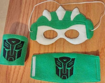 Transformer Mask and cuff set, fits the 5x7 hoop