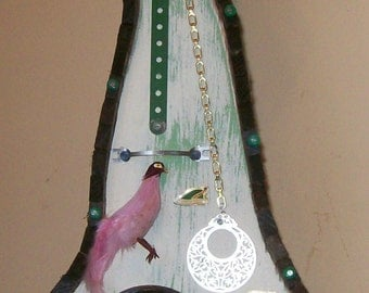 Unique One-Of-A-Kind Folk Art Birdhouse