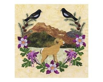 P3 Designs American Album Quilt Block 33 Colorado P3-2033