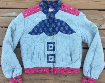Vintage India Cotton Quilted Jacket