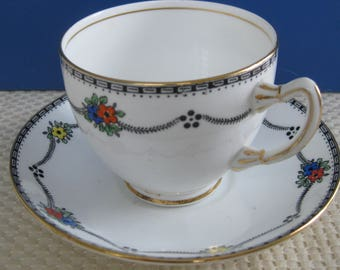 ADDERLEY ENGLISH CHINA cup and saucer, c. 1947-1950 #2807A