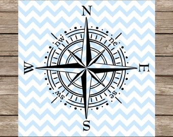 Compass SVG Compass svg files dxf nautical svg Compass clipart compass png cut file Cricut Silhouette Cameo Cutting File vinyl heat transfer