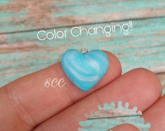 Sweet Heart- Color Changing blue pastel swirl