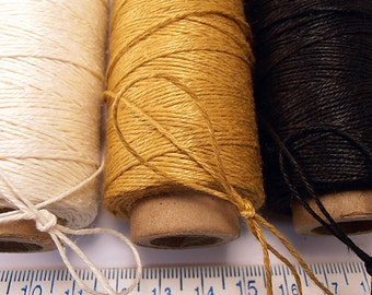 100 Yd 4 Ply Linen Finely Polished Thread - Cord  -  .5mm thick