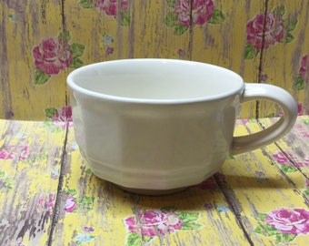 Pfaltzgraff Heritage 8 oz Cup Vintage 1960's Stoneware Replacement French White Country Chic Dinnerware Tea Coffee set
