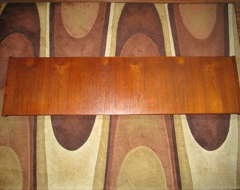 Danish Modern Floating Wall Mount Teak Headboard Queen King.  Mid Century Style!