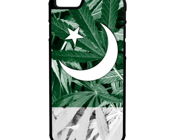 Pakistan Weed Flag iPhone Galaxy Note LG Hybrid Rubber Protective Case