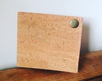 Cork Leather Wallet Vegan Friendly cruelty free Sustainable Gift for Him