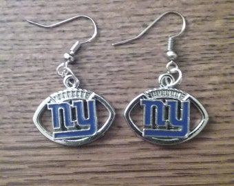 New York Giants football earrings
