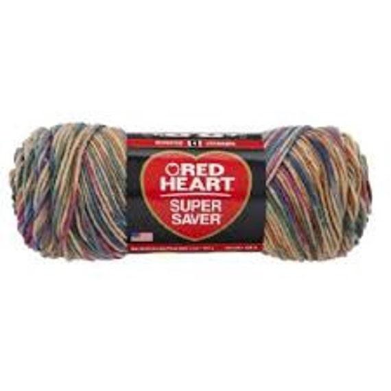 Red Heart Super Saver - desert print