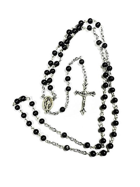 Catholic Wedding Gift For Groom : Rosary for Groom Wedding Gift Wedding Rosary Necklace Catholic ...