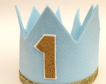 Felt Crown, photo prop, one year birthday