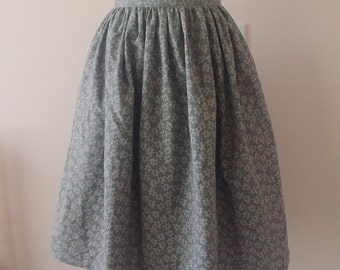Modest Gray Skirt With Pockets | Full Gathered High Waist Skirt | Knee Length Rockabilly Retro Skirt | JW Skirt Modest Womens Clothing