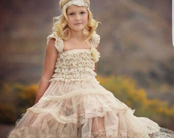 Liza Country  Champagne Lace Tiered