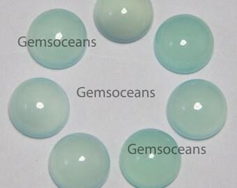 25 Pieces Lot Aqua Chalcedony Round 5x5 mm Loose Gemstone Cabochon