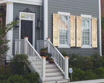 Wood Farmhouse Style Shutters - Rustic Farmhouse Window Shutters - Cedar Wood Shutters - Rustic Shutters