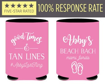 Good Times and Tan Lines Bachelorette Can Coolers, Bachelorette Favors, Beach Bach Bachelorette Can Coolers, Beach Bachelorette Favors (59)