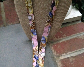Disney Beauty and the Beast Belle Princess Lanyard ID Badge Holder