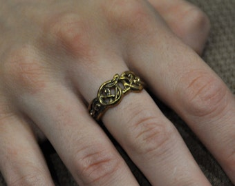 """Bronze ring  """"World Snake"""""""" in ancient viking style"""