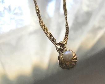 Antique Pearl Twist Necklace