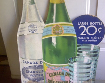 Canada Dry 1940's Free Standing Poster