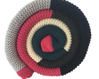 Cotton Baby Blanket: Pink Stripe