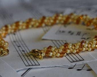 November Swarovski Spiral Birthstone Bracelet (Topaz)